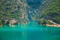 Pont gorges lac